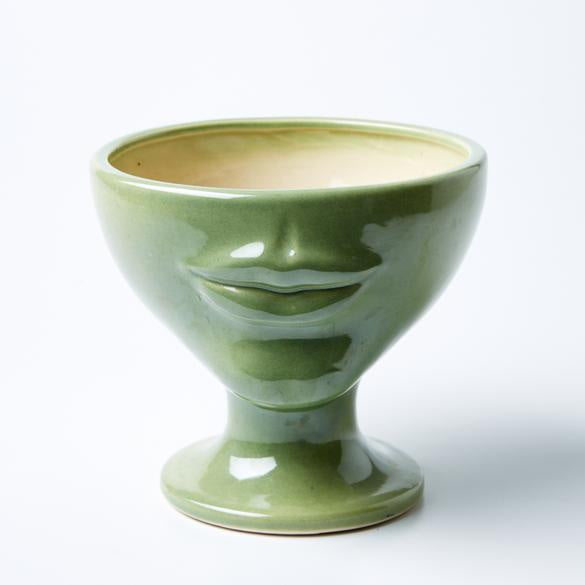 Shop Simone Planter | Tissian Green at Rose St Trading Co