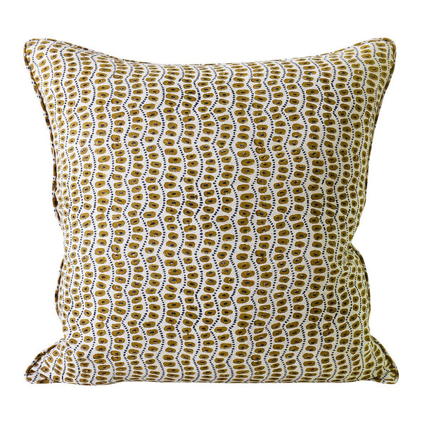 Shop Amulet Tobacco Linen Cushion | 50 x 50cm at Rose St Trading Co