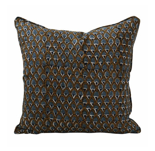 Shop Scopello Tobacco Linen Cushion - 50x50cm at Rose St Trading Co