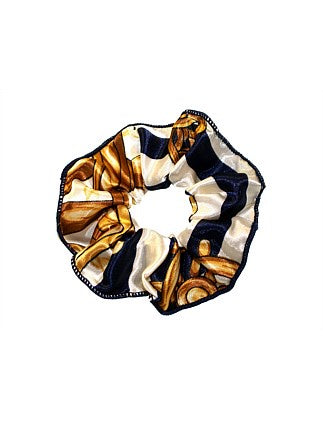 Shop Scrunchie with Trim | Navy Equestrian at Rose St Trading Co