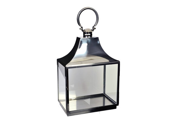 Shop Silver Lantern | 44cm at Rose St Trading Co