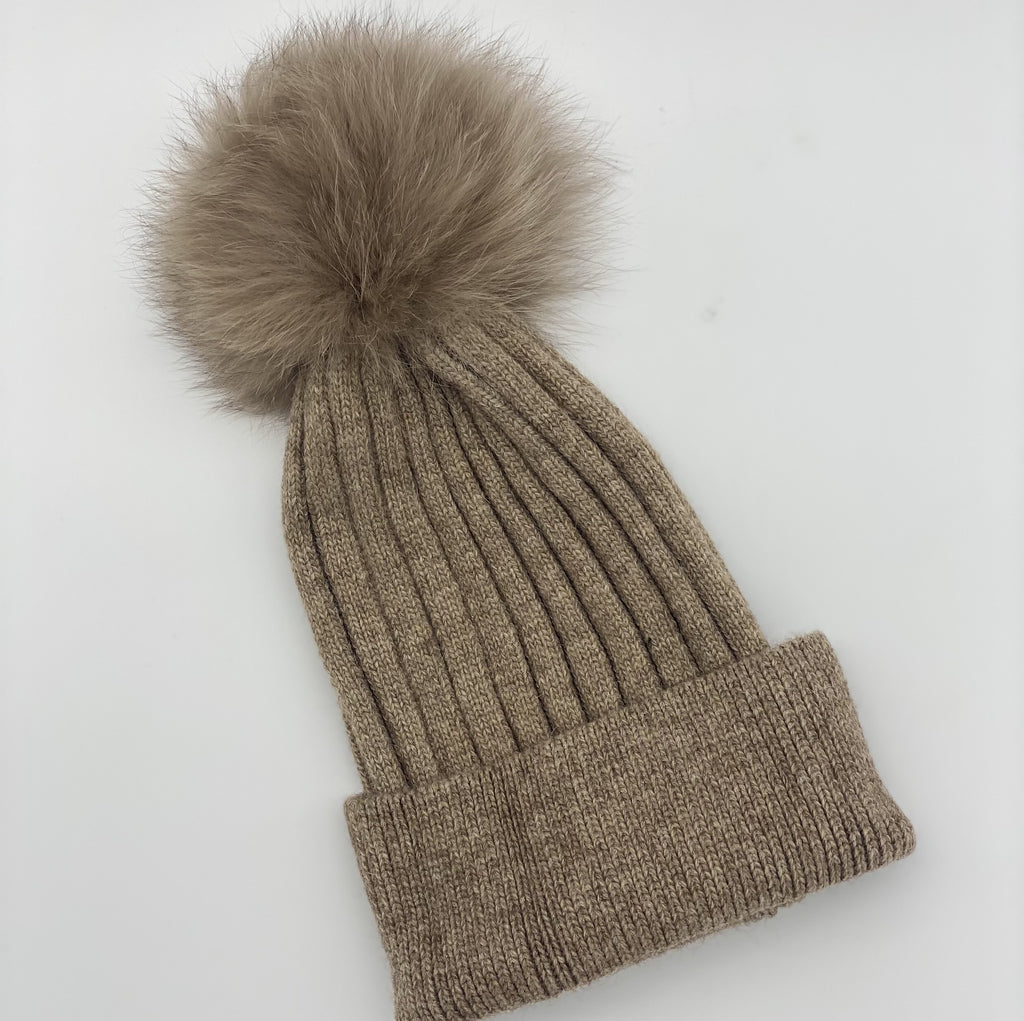 Shop Ribbed Beanie | Taupe at Rose St Trading Co
