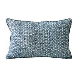 Shop Balotra Azure Linen Cushion | 30 x 45cm at Rose St Trading Co