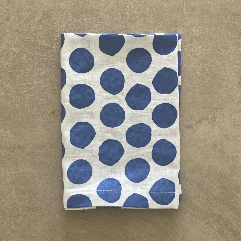 Shop Polka Dot Napkin | Navy at Rose St Trading Co