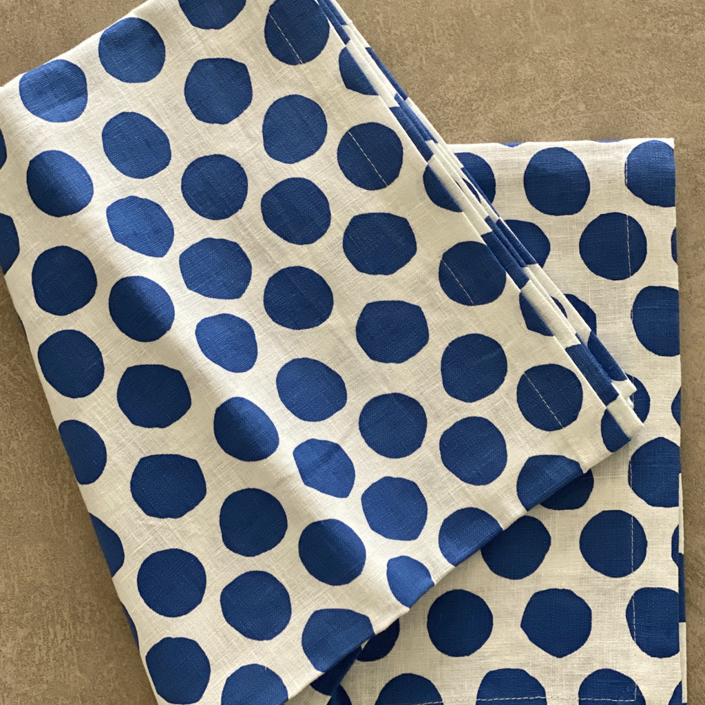 Shop Navy Polka Dot Tablecloth at Rose St Trading Co