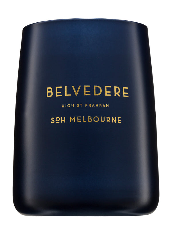 Shop SOH Belvedere Candle | Navy Matte Vessel at Rose St Trading Co