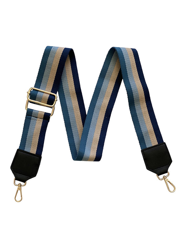 Shop Blue Stripe Bag Strap at Rose St Trading Co
