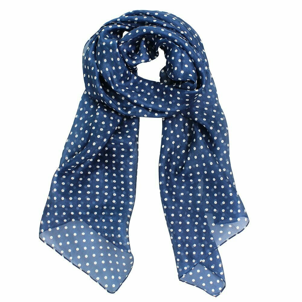 Shop Carlisle Spot Print Silk Scarf | Bluestone at Rose St Trading Co