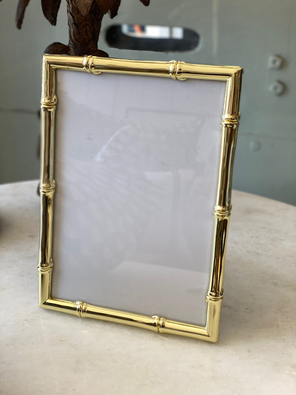 "Shop Frame - Bamboo - Gold 4x6"" at Rose St Trading Co"
