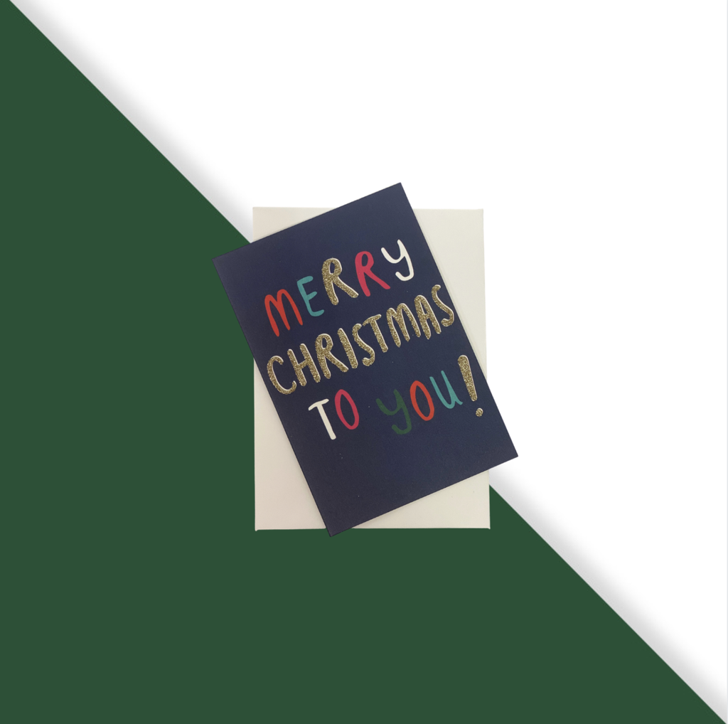 Shop Set of 10 Cards | Merry Christmas to You (Small) at Rose St Trading Co