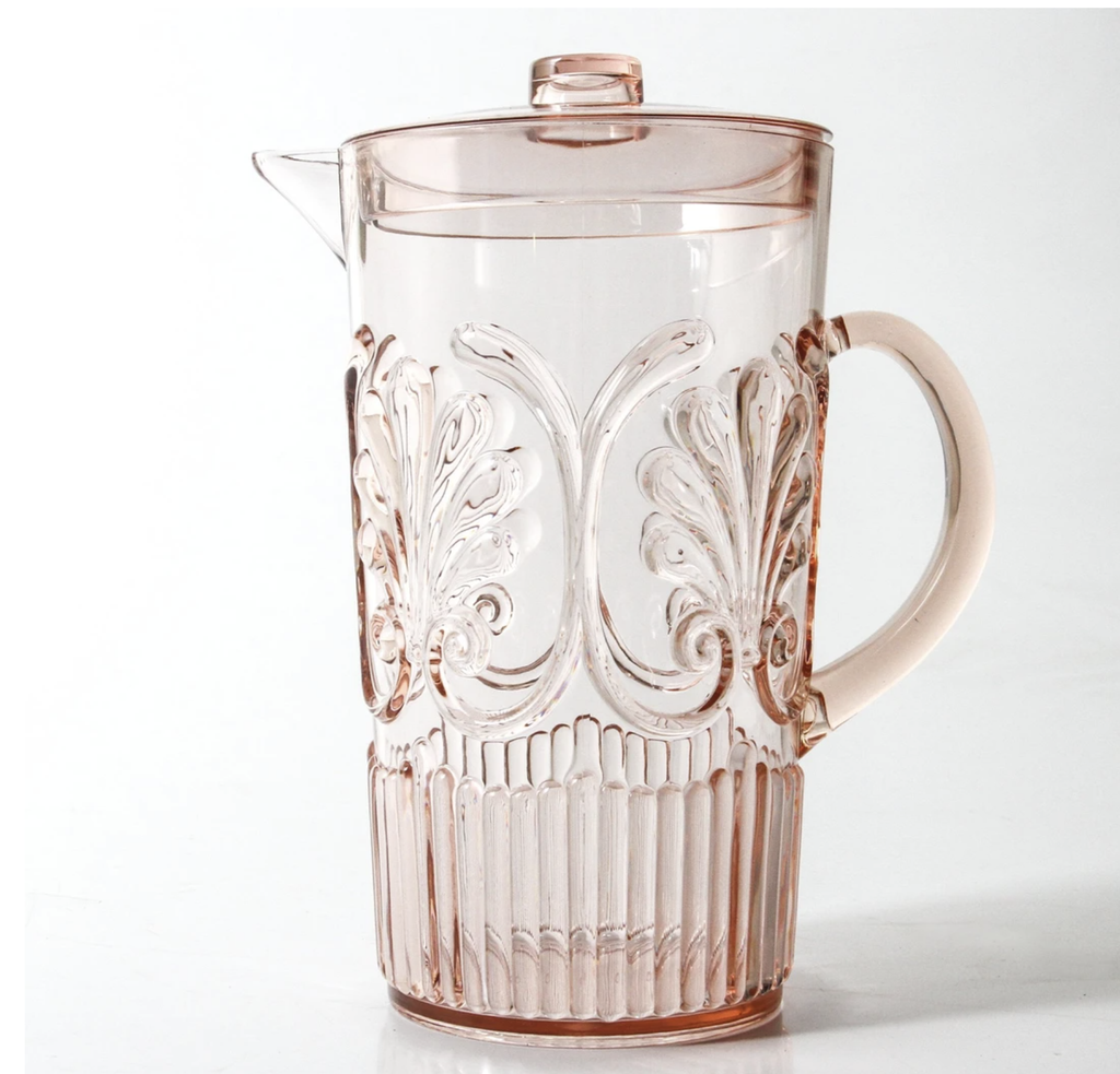 Shop Acrylic Scollop Des Pitcher | Blush at Rose St Trading Co