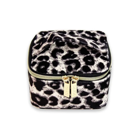 Shop Luxe Velvet Jewellery Cube | Animal Print at Rose St Trading Co