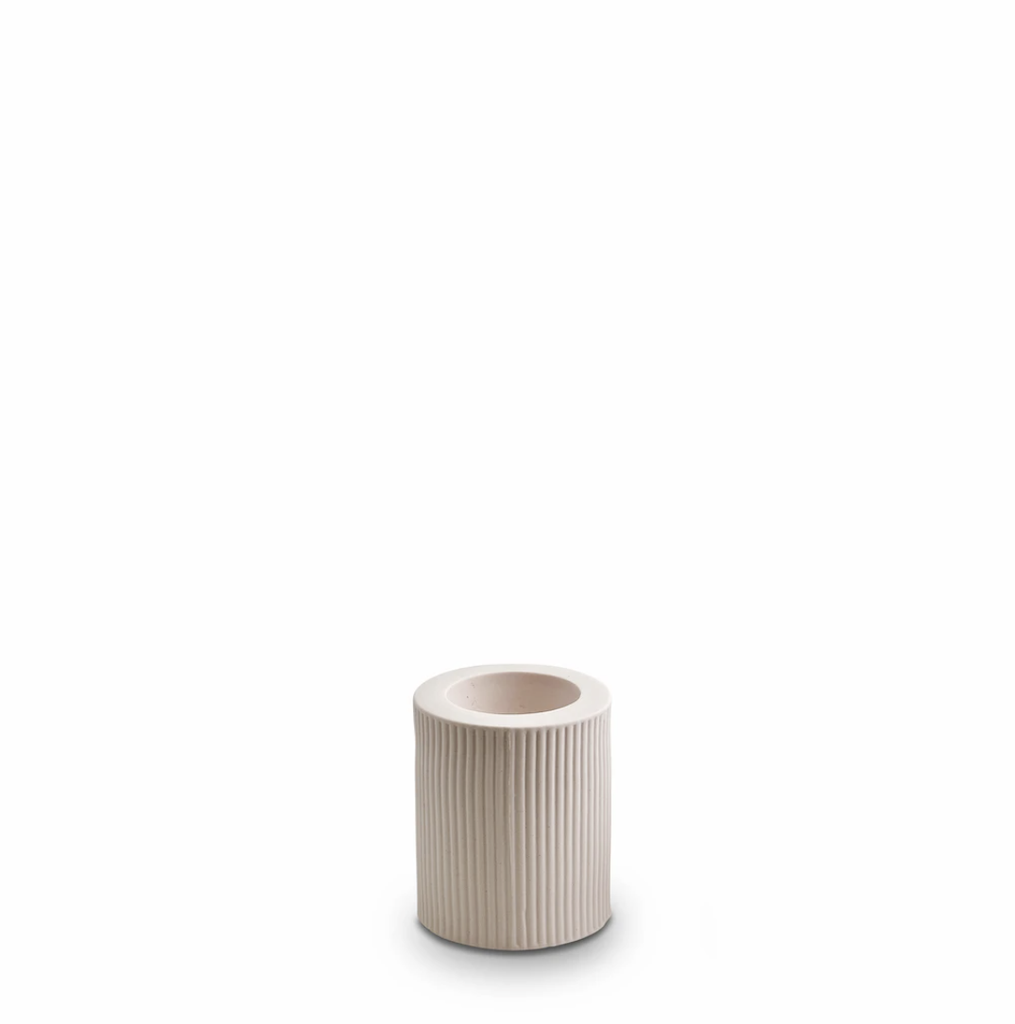 Shop Ribbed Infinity Candle Holder Nude (M) at Rose St Trading Co
