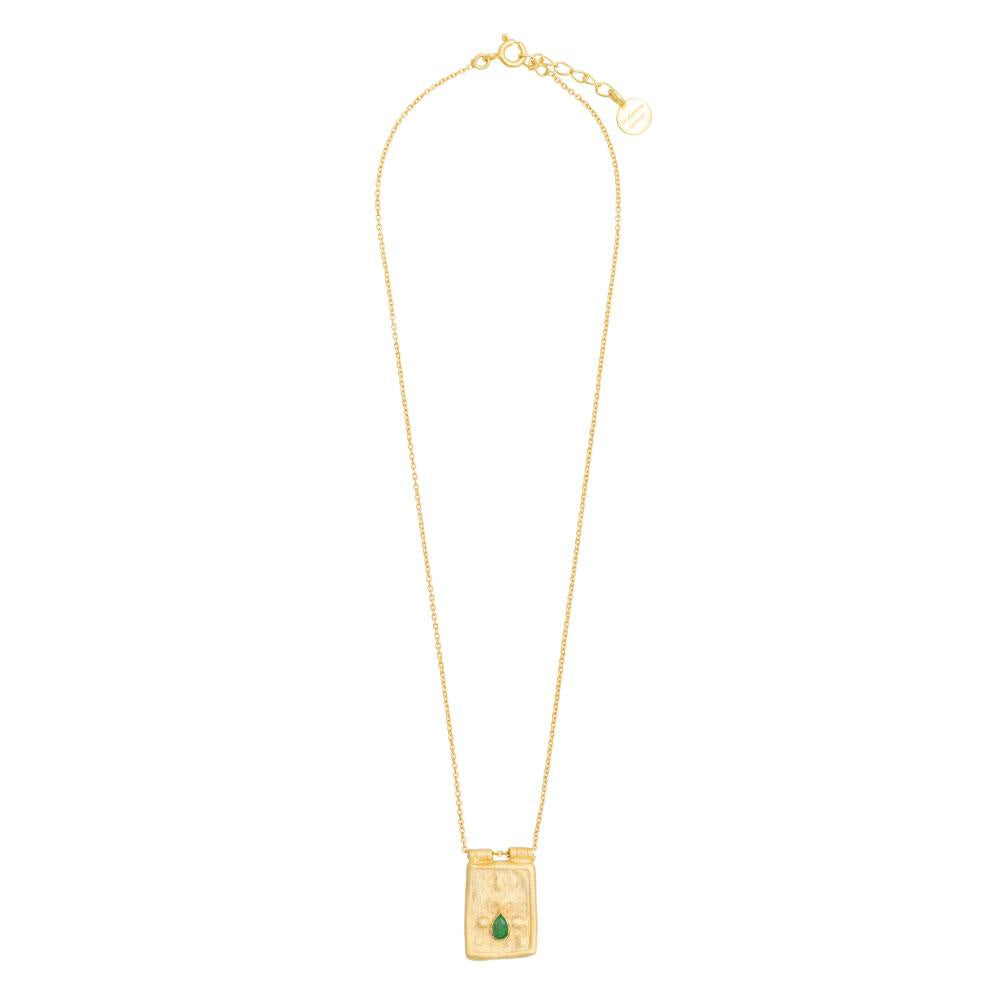 Shop Green Aventurine Goddess necklace at Rose St Trading Co