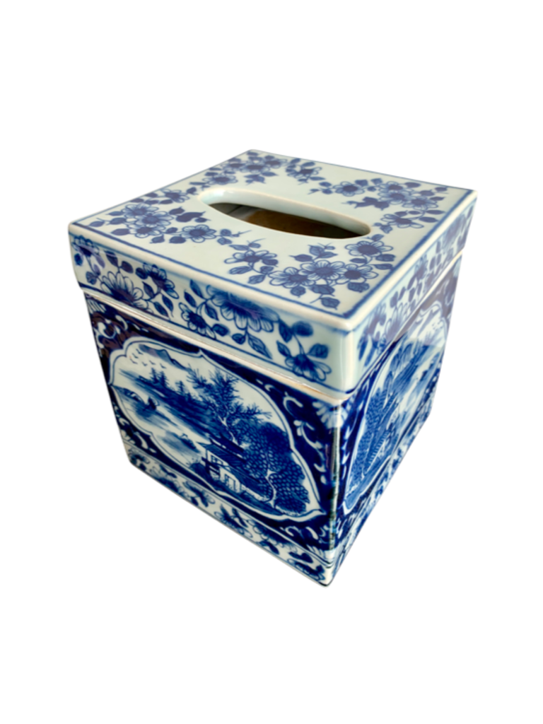 Shop Blue and White Tissue Box at Rose St Trading Co