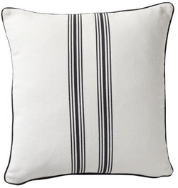 Shop Striped Cotton Cushion | Black 50 x 50cm at Rose St Trading Co
