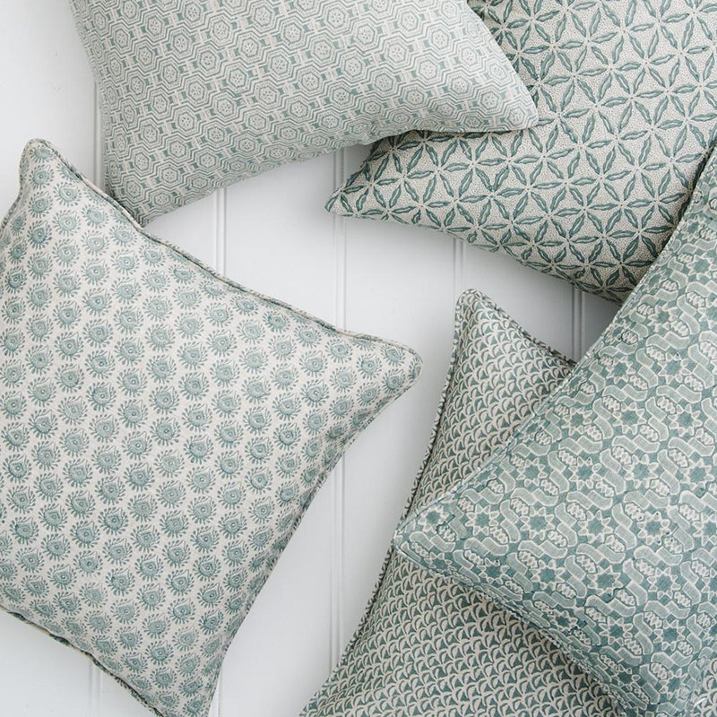 Shop Lyon Celadon Linen Cushion -50 x 50cm at Rose St Trading Co
