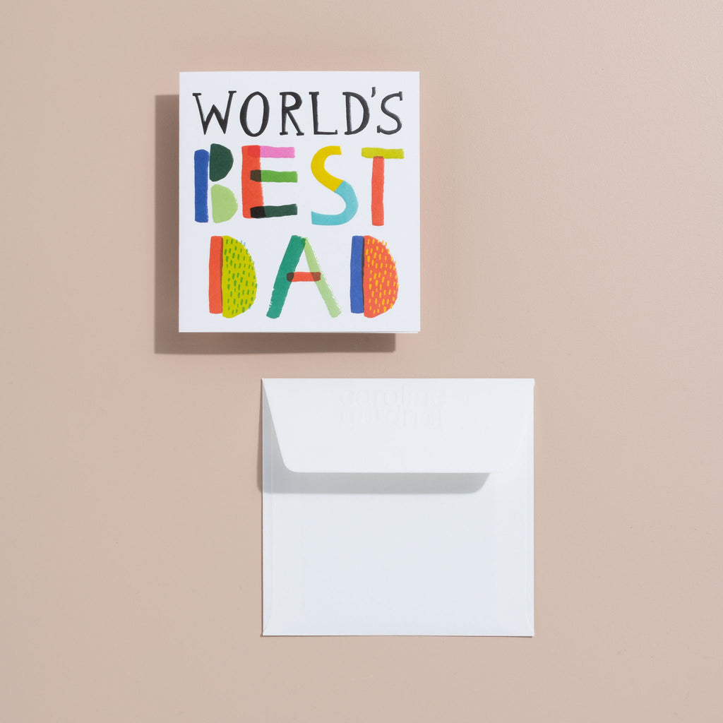 Shop Worlds Best Dad Card at Rose St Trading Co