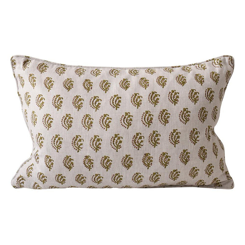 Shop Chameli Moss Linen Cushion -35 x 55cm at Rose St Trading Co