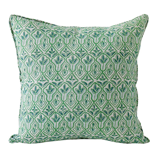 Shop Praiano Emerald Linen Cushion at Rose St Trading Co