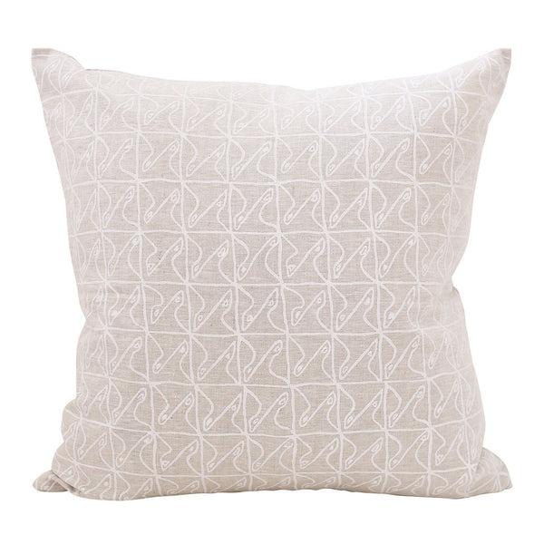 Shop Karwa Chalk Linen Cushion at Rose St Trading Co