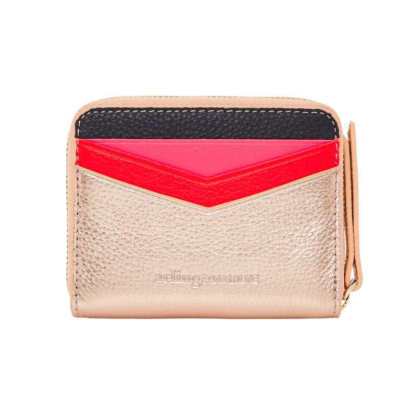 Shop Alexis Zip Purse - Rose Gold/Multi at Rose St Trading Co