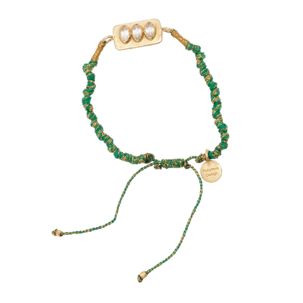 Shop Clear Quartz Adjustable Silk Bracelet at Rose St Trading Co