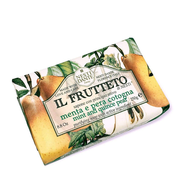 Shop Nesti Dante Mint + Quince Pear | Soap Bar at Rose St Trading Co