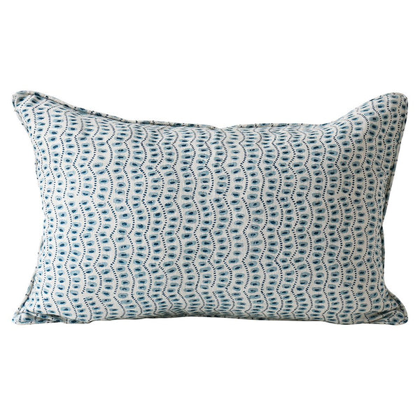 Shop Amulet Azure Linen Cushion at Rose St Trading Co