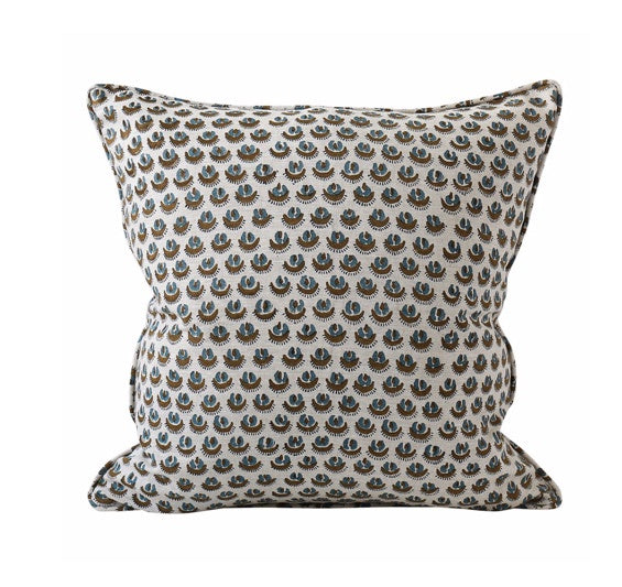 Shop Cadiz Tobacco Linen Cushion - 50x50cm at Rose St Trading Co