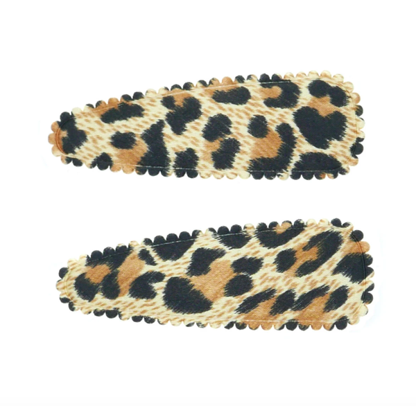 Shop Hair Clips | Pack of 2 Satin Brown Leopard at Rose St Trading Co