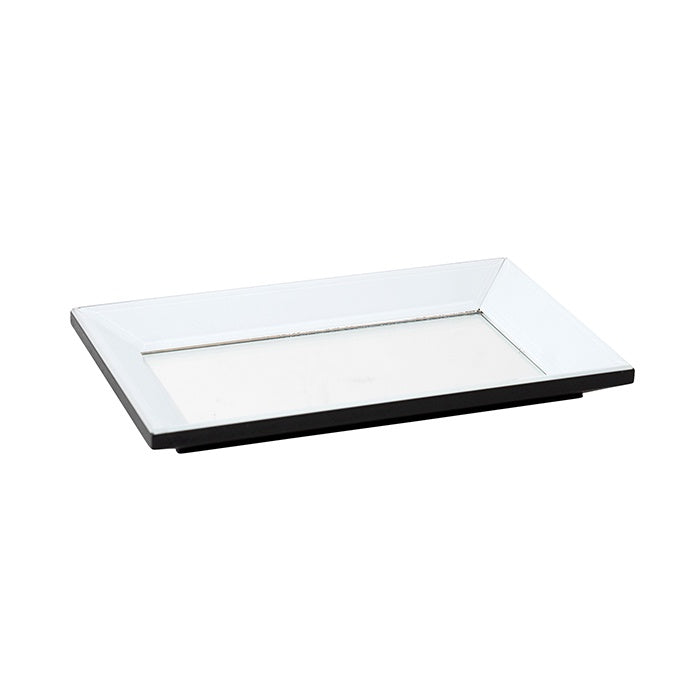 Shop Silver/White Mirror Tray | Rect at Rose St Trading Co