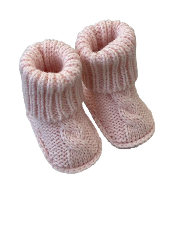 Shop Booties - Pink 0-3mth at Rose St Trading Co