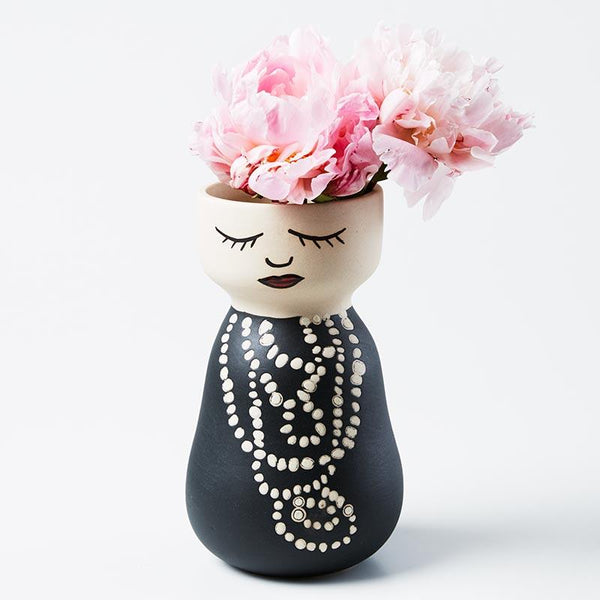Shop Coco Face Vase- PRE ORDER FOR MAY DELIVERY at Rose St Trading Co