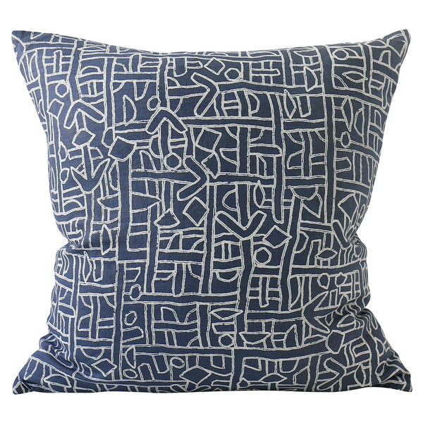 Shop Zaire Harbour Linen Cushion | 55x55cm at Rose St Trading Co
