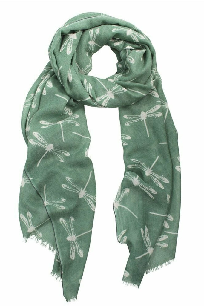 Shop Dragonfly Washed Print Merino | Sage at Rose St Trading Co