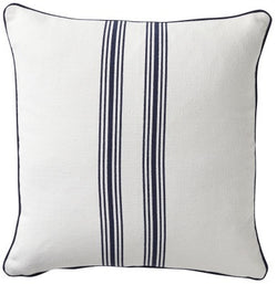 Shop Stripe Cotton Cushion | Navy 50x50cm at Rose St Trading Co