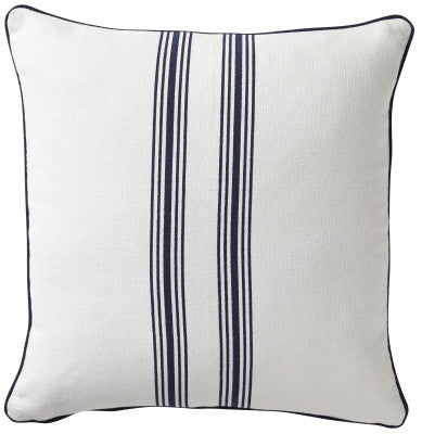 Shop Stripe Cotton Navy Cushion - 50x50cm at Rose St Trading Co