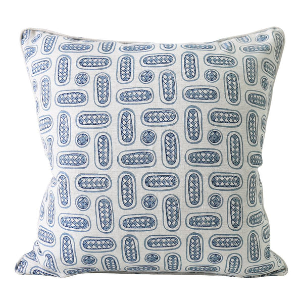 Shop Mondello Azure Linen Cushion at Rose St Trading Co