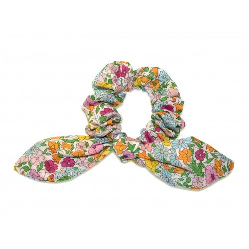 Shop Tie Bow Scrunchie | Liberty Pink Poppy Forest at Rose St Trading Co