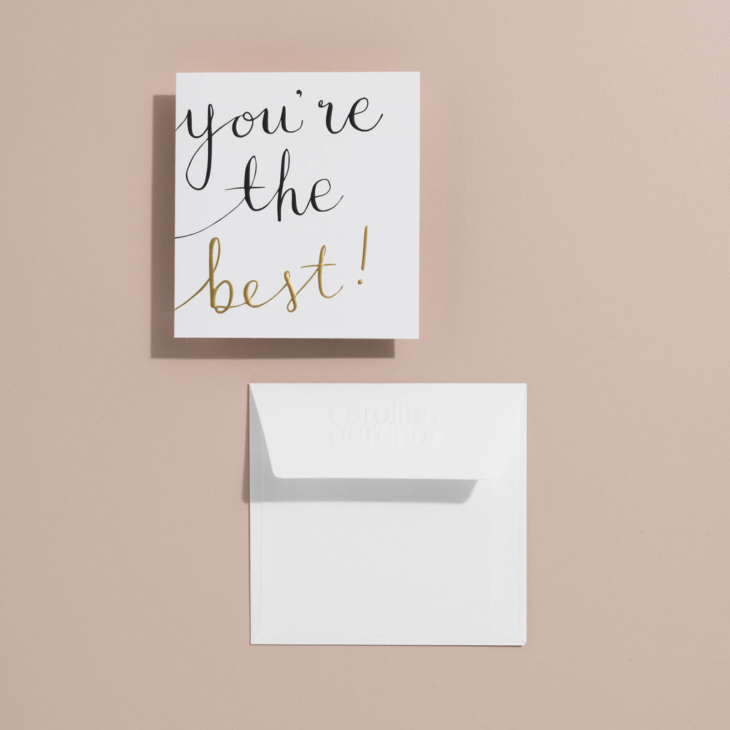 Shop You're the Best! Card at Rose St Trading Co