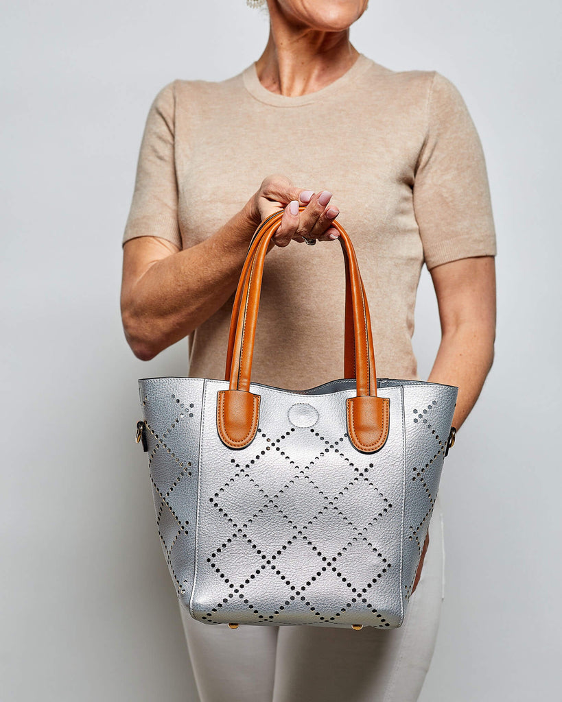 Shop Baby Bermuda Bag | Silver at Rose St Trading Co