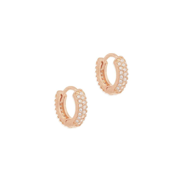 Shop Rose Gold Light Catcher Hoops at Rose St Trading Co