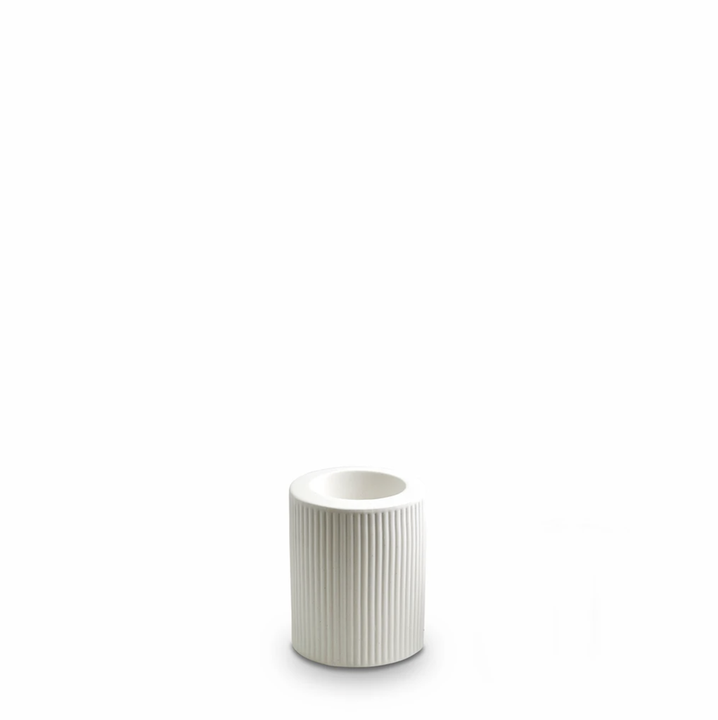 Shop Ribbed Infinity Candle Holder Snow (M) at Rose St Trading Co