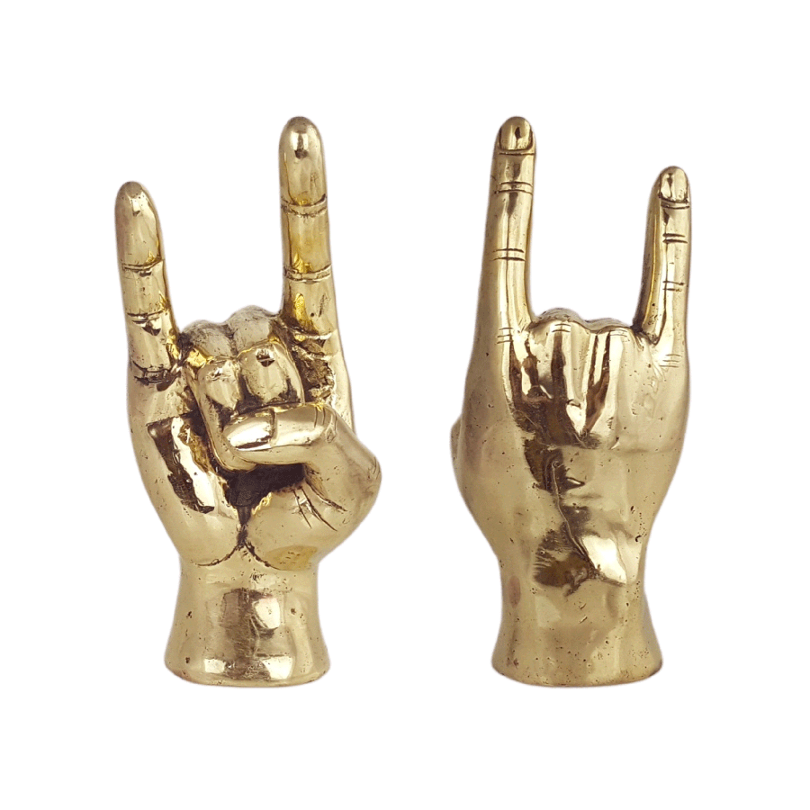 Shop Brass Hand | Rock On at Rose St Trading Co