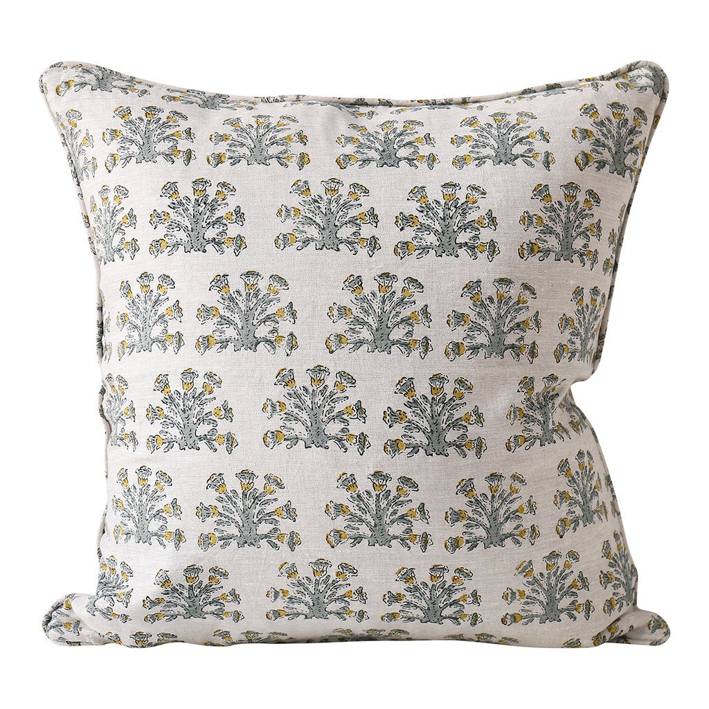 Shop Samode Celadon Linen Cushion at Rose St Trading Co
