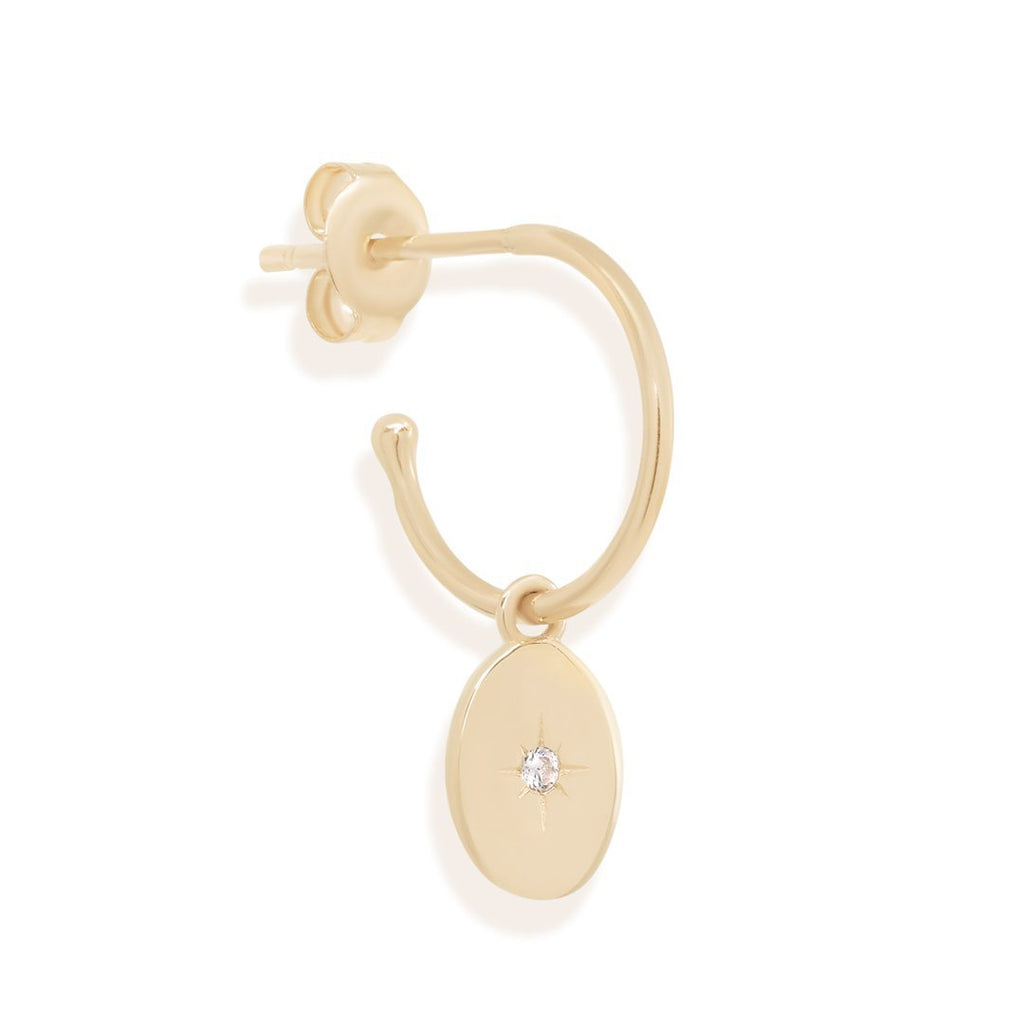 Shop 14k Gold Shine Your Light Hoops at Rose St Trading Co