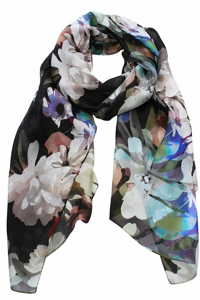 Shop Emporium Large Flower Digital Scarf at Rose St Trading Co