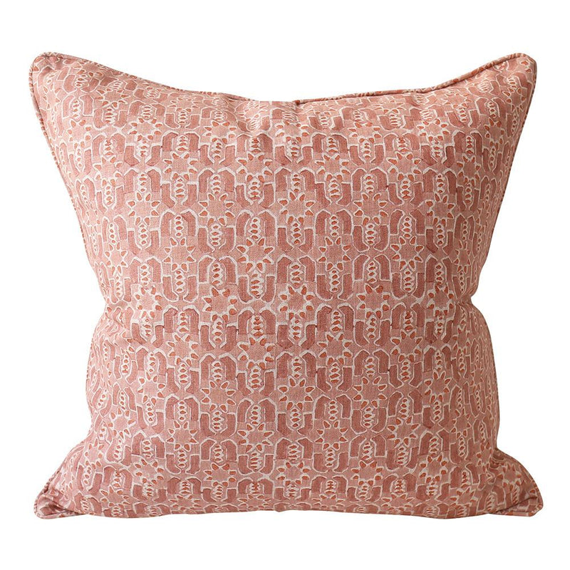 Shop Fez Guava Linen Cushion -50x50cm at Rose St Trading Co
