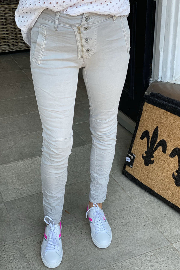 Shop Italian Jeans - Light Grey at Rose St Trading Co